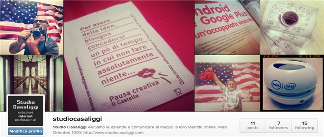 Studio Casaliggi - Account Instagram